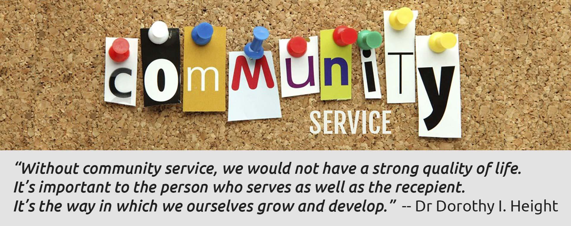 Community Service Quote
